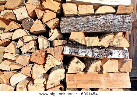 stack of logs poster