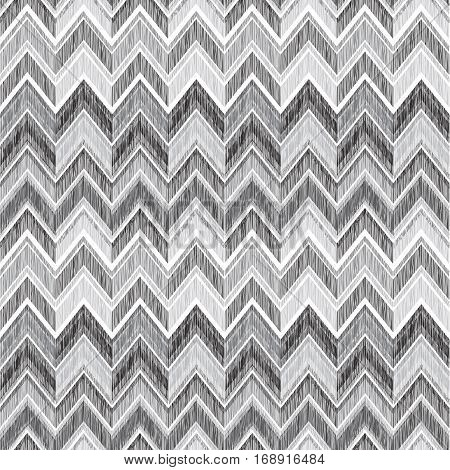 Abstract Geometric Seamless Pattern. Fabric Doodle Zig Zag Line