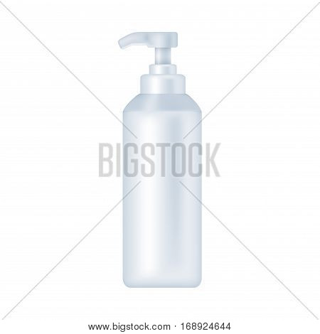 Blank cosmetic package isolated on white background. Tube for cream, shampoo, lotion, emulsion, skin oil. soap mock up vector illustration