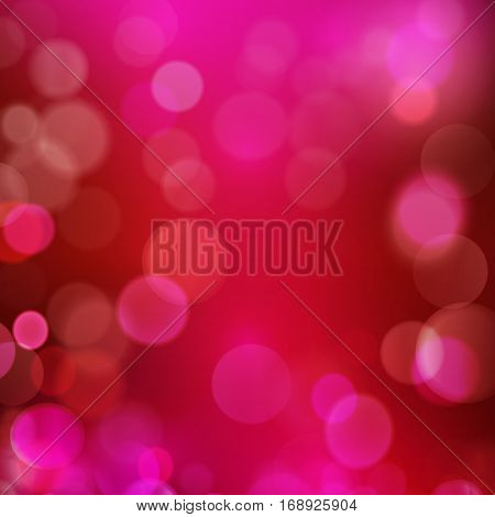 Abstract dark blur background in shades of red, purple pink and magenta with blown out blurred light dots. Great bokeh backdrop for any romantic, love theme as upcoming Valentine's day.