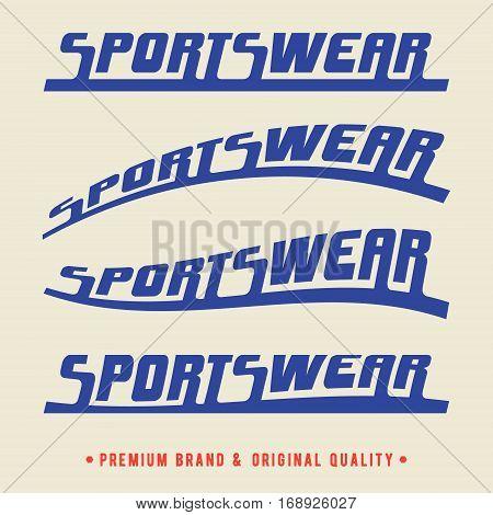 T-shirt print design. Sportswear vintage stamp set. Printing stamp and badge applique label t-shirts jeans casual wear. Vector illustration.