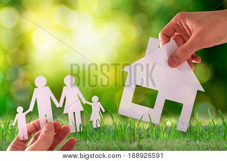 Home And Family Concept Outside In Nature