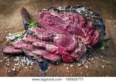 Barbecue Entrecote Steak Bleu
