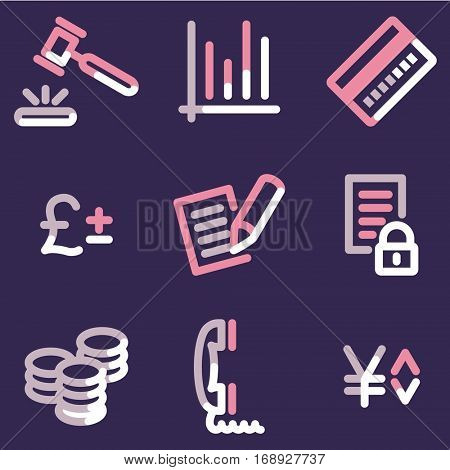 E-business icons, color contour series