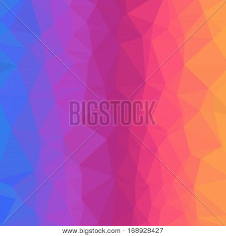 Bright Gradient Abstract Texture of Asymmetric Triangles. Background of Geometric Shapes.