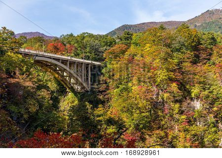 Bridge passing though Naruko Gorge