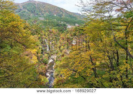 Naruko gorge in autumn season