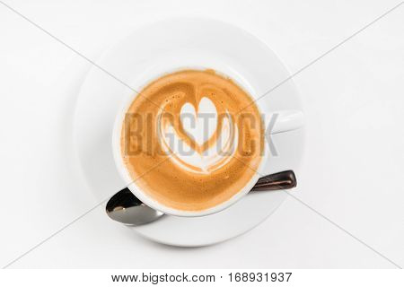 Latte with Heart Design