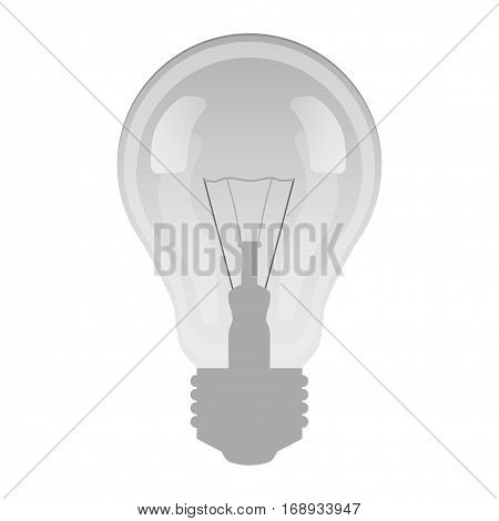 Glass lamp gray with patches of light on a white background
