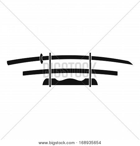 Katana, Japanese sword icon. Outline illustration of katana, Japanese sword vector icon for web