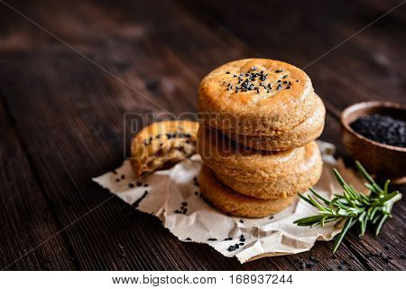 Savory Cheese Cookies With Black Cumin Seeds