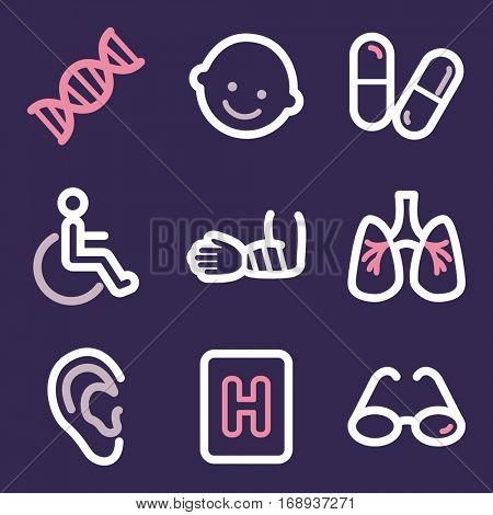 Medicine mobile icon. Health infographics symbols.