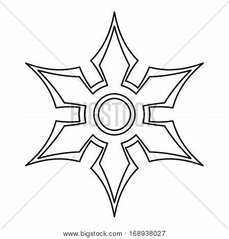 Shuriken icon. Outline illustration of shuriken vector icon for web
