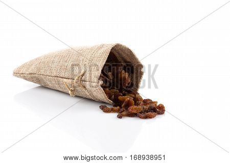Sweet Raisins On White