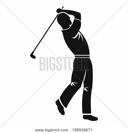 Golf player icon. Simple illustration of golf player vector icon for web