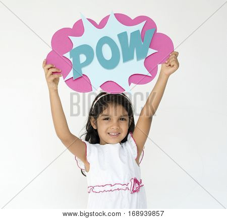 Little Girl Pow Studio Portrait Concept