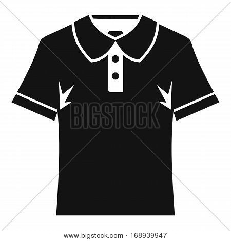 Men polo shirt icon. Simple illustration of men polo shirt vector icon for web