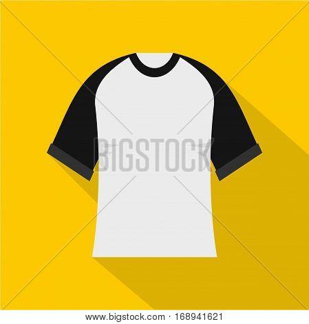 Baseball shirt icon. Flat illustration of baseball shirt vector icon for web   on yellow background