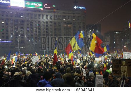 Three Hundred Thousand People Protest