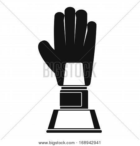 Baseball glove award icon. Simple illustration of baseball glove award vector icon for web
