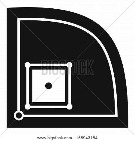 Baseball field icon. Simple illustration of baseball field vector icon for web