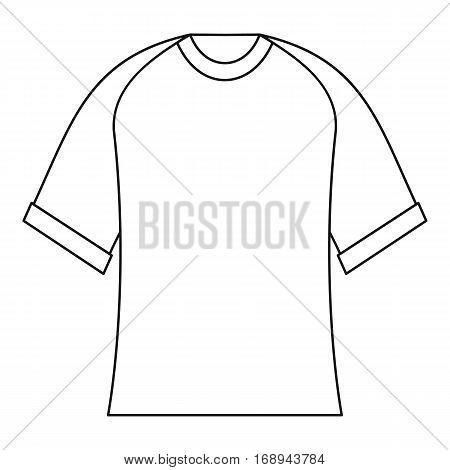 Blank baseball shirt icon. Outline illustration of blank baseball shirt vector icon for web