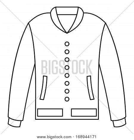 Classic sport jacket icon. Outline illustration of classic sport jacket vector icon for web