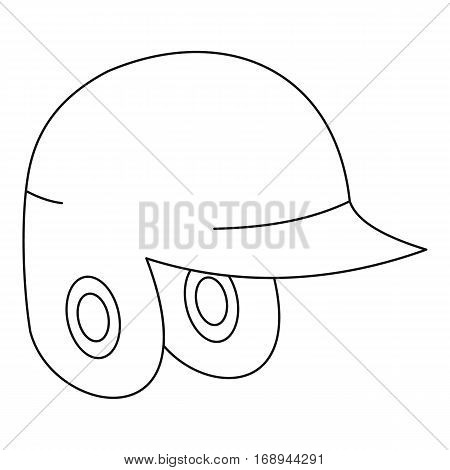 Helmet for baseball or softball icon. Outline illustration of helmet for baseball or softball vector icon for web