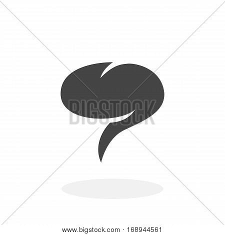 Chat icon isolated on white background. Chat vector logo. Flat design style.