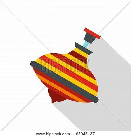 Colorful spinning top icon. Flat illustration of colorful spinning top vector icon for web   on white background