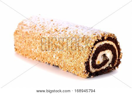 Sweet Roulade Covered With Powder