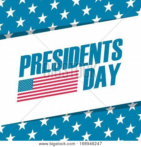 Presidents day holiday background. Color vector illustration.