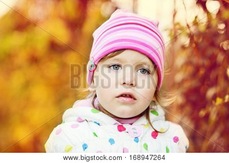 Toddler In Fall