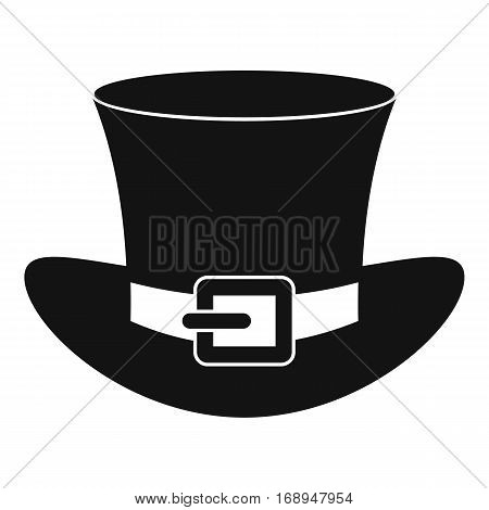 Top hat with buckle icon. Simple illustration of top hat with buckle vector icon for web