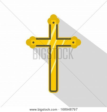 Holy cross icon. Flat illustration of holy cross vector icon for web
