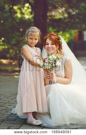 Bride And Little Sister