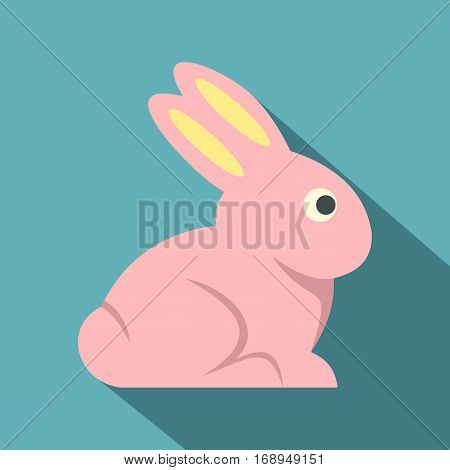 Easter bunny icon. Flat illustration of easter bunny vector icon for web