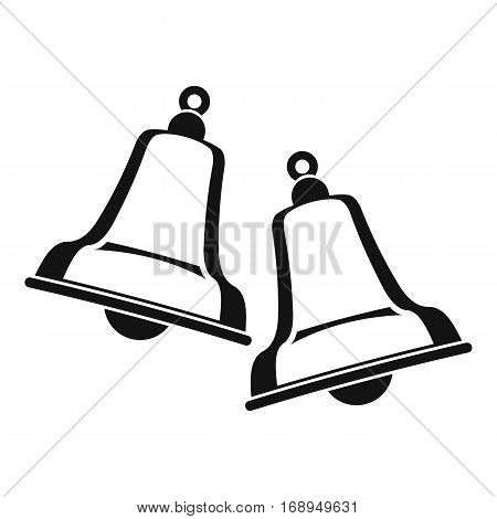 Bells icon. Simple illustration of bells vector icon for web