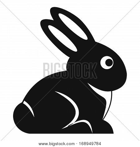 Easter bunny icon. Simple illustration of easter bunny vector icon for web