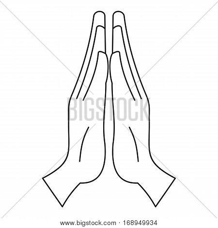 Prayer icon. Outline illustration of prayer vector icon for web