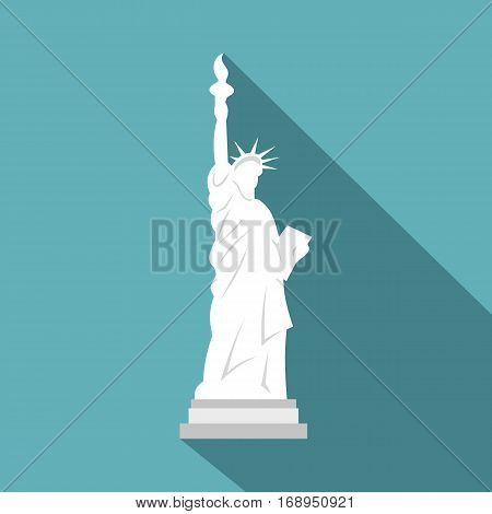 Statue of Liberty icon. Flat illustration of statue of liberty vector icon for web