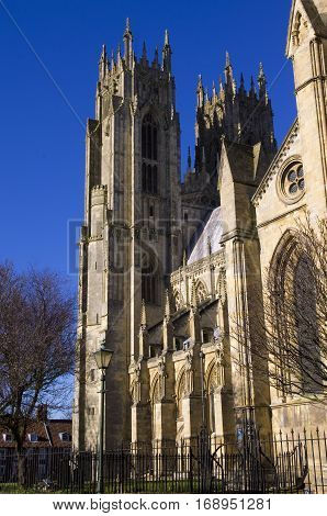 Beverley Minster Beverley Minster, a large Gothic parish church in East Yorkshire