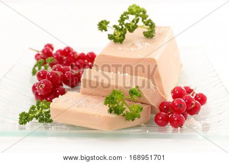 foie gras with redcurrant