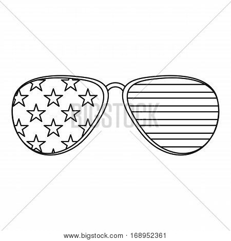 American glasses icon. Outline illustration of american glasses vector icon for web