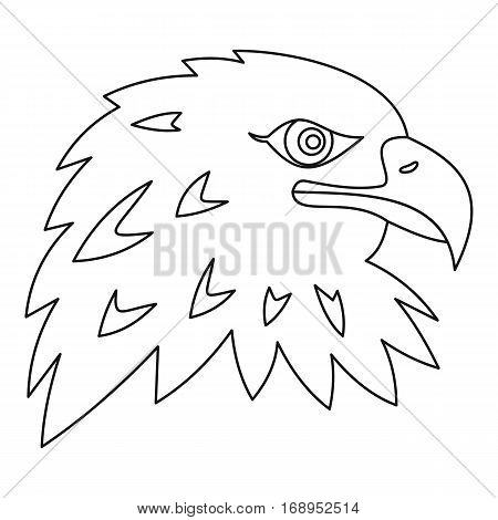 Eagle icon. Outline illustration of eagle vector icon for web