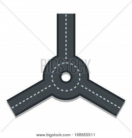 Roundabout icon. Flat illustration of roundabout vector icon for web
