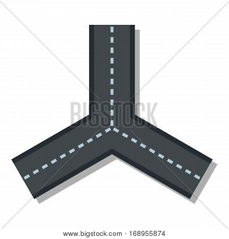 Three roads icon. Flat illustration of three roads vector icon for web