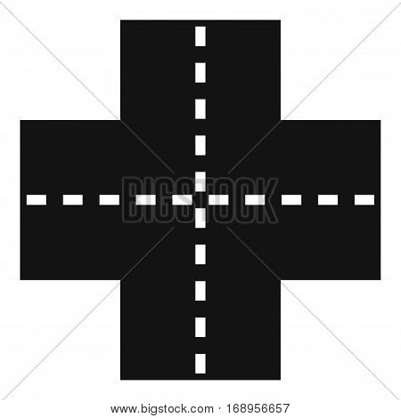 Crossroad icon. Simple illustration of crossroad vector icon for web