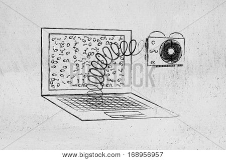 Laptop's Gpu Module Out On A Spring