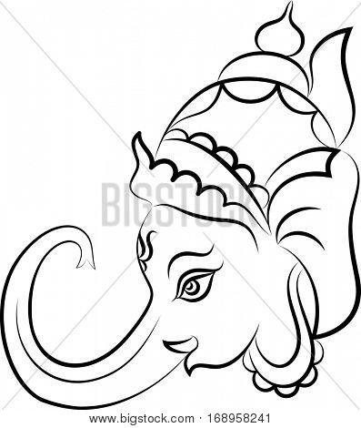 Ganesha The Lord Of Wisdom Raster Illustration